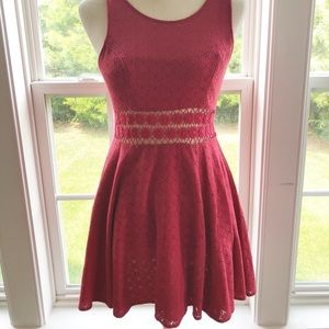 Free People Red Skater Dress Size 2